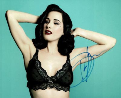 Dita Von Teese Autograph Signed Photo
